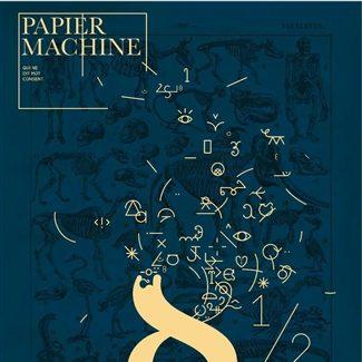 Couverture du numéro 8 1/2 de la revue Papier Machine