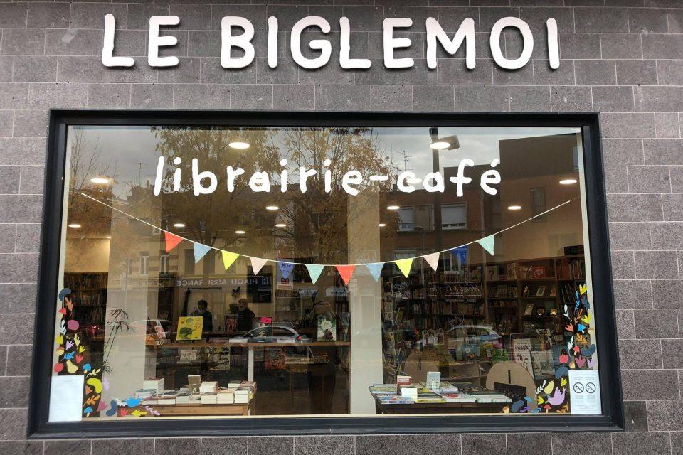 Librairie Café le Biglemoi devanture