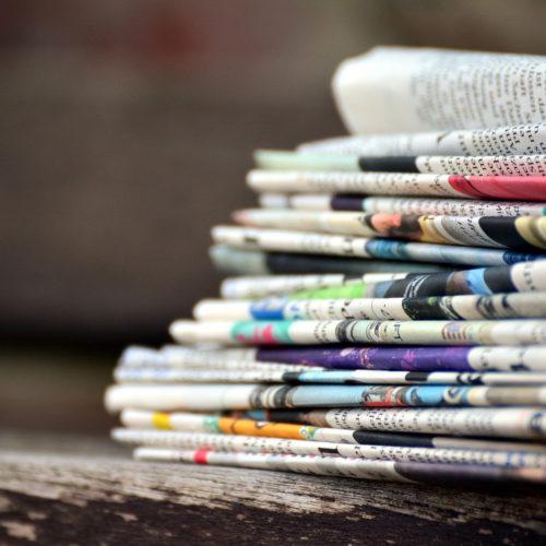 Journaux pliés